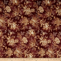 St. Louis Collection Large Floral Wine Fabric