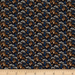 St. Louis Collection Packed Flowers Blue Fabric