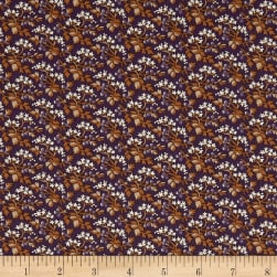 St. Louis Collection Packed Flowers Purple Fabric