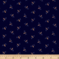 St. Louis Collection Leaf Blue Fabric
