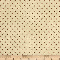 St. Louis Collection Dots Tan/Wine Fabric