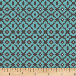 Stof Boho Graphics Aqua Fabric