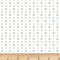 Stof Dot Mania Dash Ivory/Green Fabric