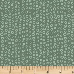 Stof Dot Mania Small Circles Dark Sage Fabric
