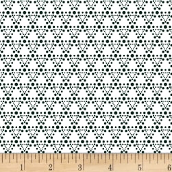 Stof Dot Mania Triangle Ivory/Grey Fabric