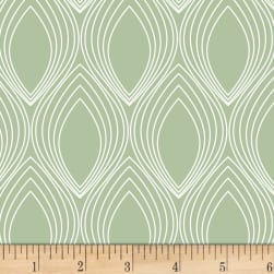 Stof Duo Retro Shapes Light Green Fabric