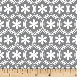 Stof Duo Petals Medium Grey Fabric