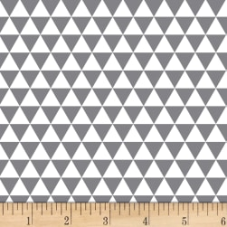 Stof Duo Mini Triangles Grey/Ivory Fabric