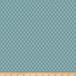 Stof Fabrics Denmark Duo Mini Diamonds Aqua
