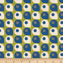 Stof Retro Vibes Lime Fabric