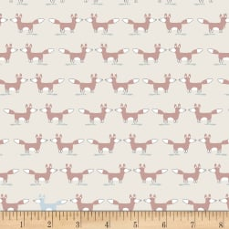 Stof Woodland Foxes Ivory/Brown Multi Fabric