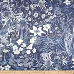 Liberty Fabrics Interiors Sateen Faria Water Garden Fabric