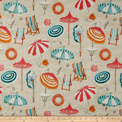 ED Ellen Degeneres Outdoor Beach Daze Peachtini Fabric