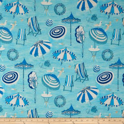 ED Ellen Degeneres Outdoor Beach Daze Ocean Fabric
