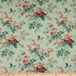 Waverly Emma's Garden Rosewood Duck Fabric