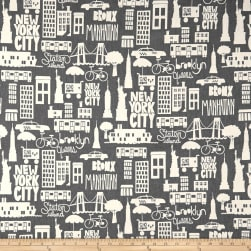PKL Studio East Coast Charcoal Duck Fabric