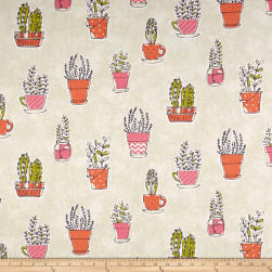 PKL Studio Plant Sale Cream Duck Fabric