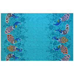 Michael Miller Plume Peacocks Double Border Fabric