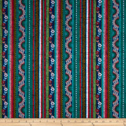 Michael Miller Plume Ruffled Feathers Peacock Fabric