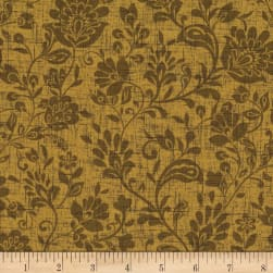 Michael Miller Plume You're So Vine Gold Fabric