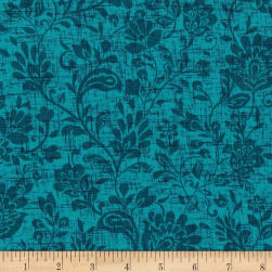 Michael Miller Plume You're So Vine Peacock Fabric