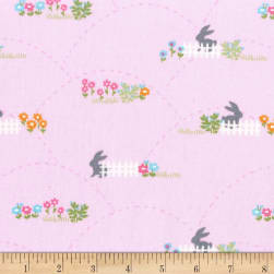 Michael Miller Bunny's Garden Hopping Fences Petal Fabric