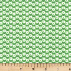 Michael Miller Bunny's Garden Flower Patch Grass Fabric