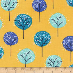 Michael Miller Road Trip Lollipop Trees Sunshine Fabric