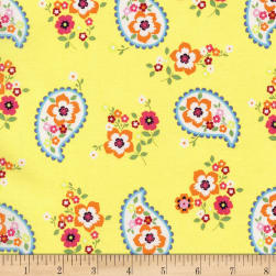 Michael Miller Lovey Dovey Paisley Love Citron Fabric