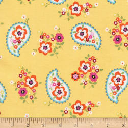 Michael Miller Lovey Dovey Paisley Love Sun Fabric