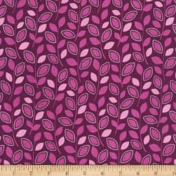 Michael Miller Lovey Dovey Branching Out Magenta Fabric