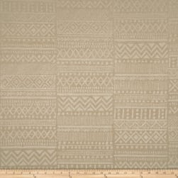 Waverly Bamako Chenille Jacquard Stripe Sand Fabric