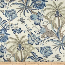 Waverly Exotic Curiosity Porcelain Linen Fabric