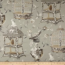Waverly Objet D'Art Twill Sterling Fabric