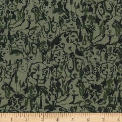 Michael Miller Where's Rover? Where's Rover? Olive Fabric