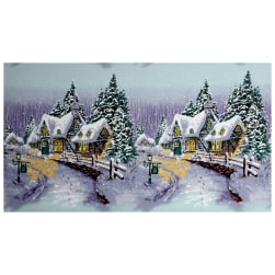 Michael Miller Snow Chateau Snow Chateau 24'' Panel Winter Fabric