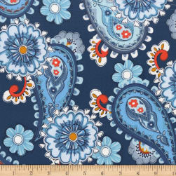 Michael Miller Daisy Paisley Teal Fabric