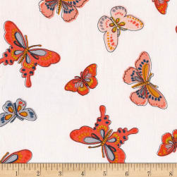 Michael Miller Daisy Paisley All-A-Flutter Coral Fabric