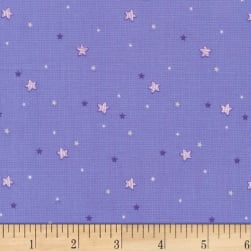 Michael Miller Twinkle Fairies Sprinkled Stars Twilight Fabric
