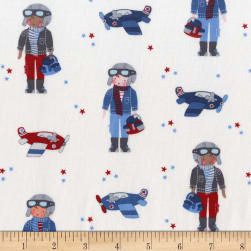 Michael Miller Flight School Little Aviators Sky Fabric