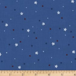 Michael Miller Flight School Sprinkled Stars Blue