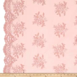 Starlight Sequin & Mesh Lace Alley Pink Fabric