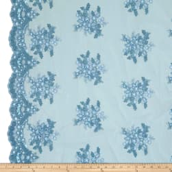 Starlight Sequin & Mesh Lace Alley Blue Fabric