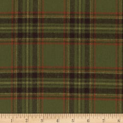 Marcus Primo Plaids Flannel Harvest Green Fabric