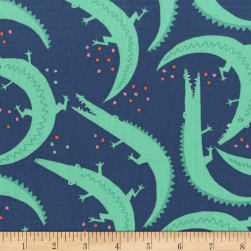 Michael Miller Everglades Chomp Marine Fabric
