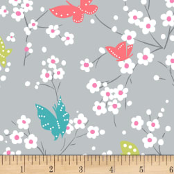 Michael Miller Project Dovetail Butterfly Blossoms Cloud Fabric