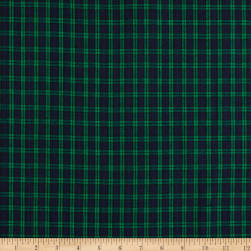 Classic Yarn-Dyed Tartan Plaid Blackwatch Blue/Green Fabric