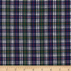 Classic Yarn-Dyed Tartan Plaid Mckenzie Navy/Green/White/Red Fabric