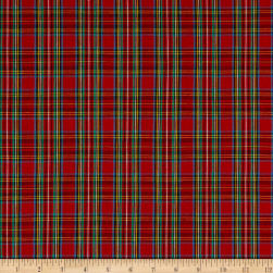 Classic Yarn-Dyed Tartan Plaid Royal Red