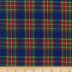 Classic Yarn-dyed Tartan Plaid Royal/Red/Yellow Fabric